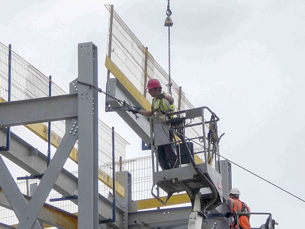 Steel Lifting : Steel structures j safe ltd temporary edge protection