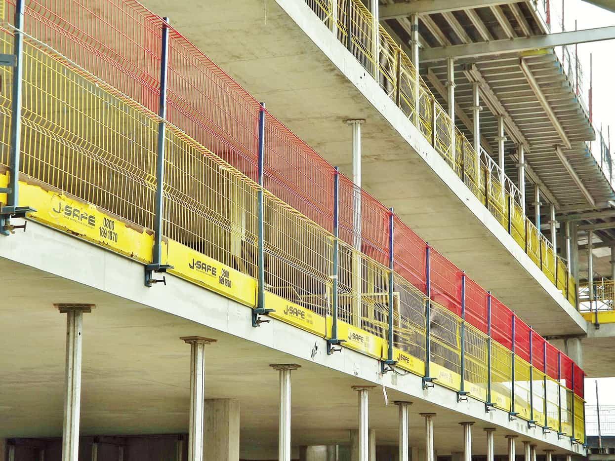 Concrete Corner Protectors : R c frame j safe ltd temporary edge protection systems