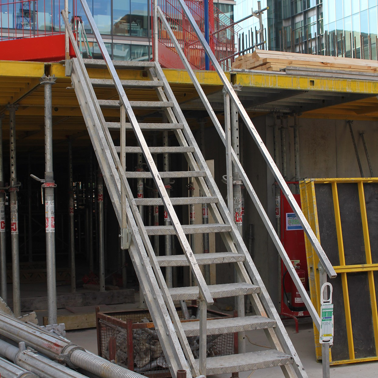 Adjustable Scaffolding For Stairs : Site stairs embankments j safe ltd temporary edge